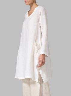MISSY Clothing - Linen Long Sleeve Top