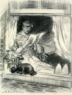 John French Sloan - The effect is spoiled (1913-1915) - Charcoal (Private collection)