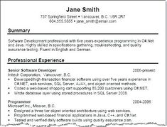 Best Example Resumes Summary Sample For Resume Good Examples Of