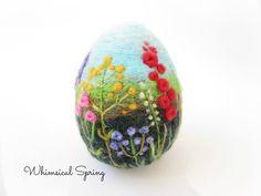 Easter EggFelt eggLarge Easter eggSpring от Crafts2Cherish на Etsy