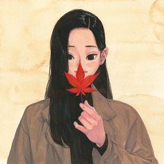 Jungyoun Kim (Sakura / 2016 / 18 x 18cm / Gouache on paper   ...)