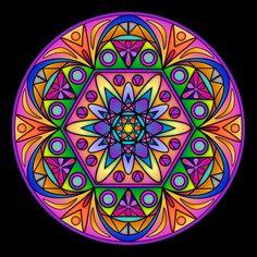 Colored Mandala -- by RuthArt  http://www.flickr.com/photos/ruthart/