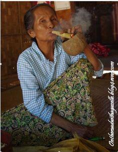 Tobacco lady in Bagan