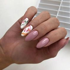 56 Stunning Nail Art Designs for Short Acrylic Nails - Page 28 of 56 - TipSilo Cute Nails, Pretty Nails, Almond Nail Art, Nagellack Trends, Manicure E Pedicure, Dream Nails, Flower Nails, Stylish Nails, Perfect Nails