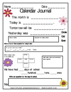 Calendar Journal-May and June