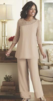 e13d9c32957 Mother Of The Bride Groom Pant Suits 2018 Summer Spring Chiffon Custom Made  Long Sleeves Plus Size Wedding Guest Wear Mother Dress Joan Joan Rivers Joan  ...