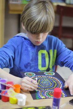 Kunstwerkjes maken door middel van 'Dot-painting'