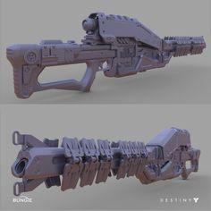 ArtStation - Destiny: Exotic Sniper Rifle Ice Breaker, David Stammel