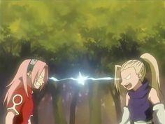 Sakura Haruno and Ino Yamanaka- Rivals
