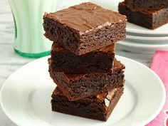 Grandma's Old-Fashioned Rich Fudge Brownies by WickedGoodKitchen.com ~ Fudgy, rich and chewy with an incredibly moist interior and a shiny, crackly, flaky