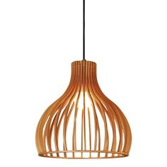 Classic slatted plywood pendant Dimensions in mm: x Lamp Base: Available in medium x Lamp Bases, Pendants, Indoor, Ceiling Lights, Lighting, Classic, Frame, Home Decor, Interior