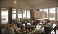 love these windows and the calm feel to the room