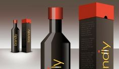 package design  part    realistic wine bottle and box psd download