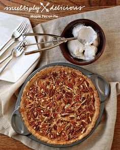 Maple Cinnamon Pecan Pie #MultiplyDelicious