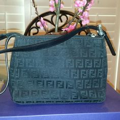 "Authentic Vintage Fendi Baguette Great condition inside & out Clean inside Minimal wear on corners Not so noticeable 7 1/2"" x 5 3/4"" x 2 1/2"" Price is firm! FENDI Bags"