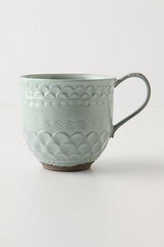 Piecrust Mug #anthropologie---there's a whole collection that include salad plate, dinner plate, and bowl. So cute!