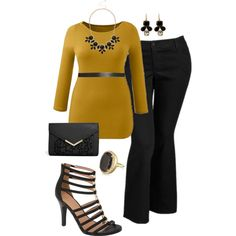Lovely look for the office - #plussize #fashion
