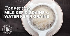 With the right steps and a little luck, Milk Kefir Grains can be converted into a water kefir culture. Learn how to make the switch. Kefir Milk Benefits, Health Benefits, Kefir Culture, Kefir How To Make, Making Kefir, Kefir Recipes, Probiotic Drinks, Water Kefir, Fermented Foods