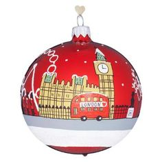 Buy Bombki London Sky Glass Hanging Decoration, Multi Online at johnlewis.com