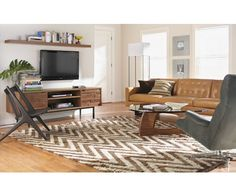 Living - Room & Board Credenza tv shelf placement
