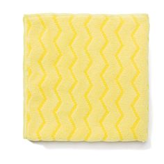 """Rubbermaid Commercial RCPQ610 Reusable Cleaning Cloths Microfiber 16"""" x 16"""" Yell Yellow Janitorial Supplies Cleaning Supplies Cloths"""