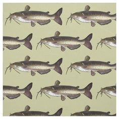 Catfish Fabric - tap, personalize, buy right now! #Fabric  #catfish #fish #fishing #fisherman #freshwater Catfish Fishing, Pigment Ink, Custom Fabric, Wonders Of The World, Crafts To Make, Printing On Fabric, Prints, Sewing Projects, Gender
