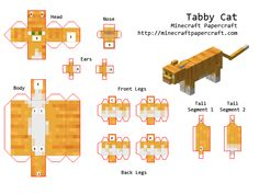 Papercraft Designs with tags 'official, mob, animal' Minecraft Party, Gato Minecraft, Minecraft Mobs, Minecraft Crafts, Minecraft Houses, Minecraft Stuff, Minecraft Templates, Minecraft Designs, Papercraft Minecraft Skin