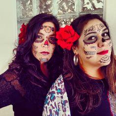 Renee and Odette were celebrating Día de Los Muertos early at Dark Horse Media! Halloween 2013