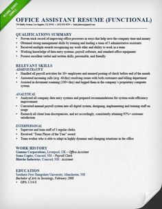 Sample Functional Resumes ResumeVaultCom  Job Search