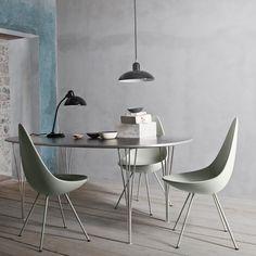 Fritz Hansen + Super Elliptical Dining Table + Piet Hein and Bruno Mathsson