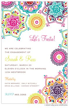 Indie Floral Bright Invitation