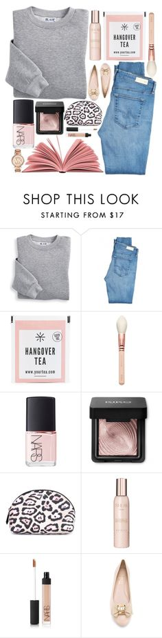 """""""Drunk."""" by chiclookdujour on Polyvore featuring Blair, AG Adriano Goldschmied, NARS Cosmetics, Givenchy, Show Beauty, Salvatore Ferragamo and Michael Kors"""