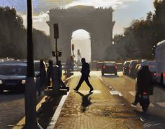 """Oil painting """"through the arch"""" 8x10in, by Jonathan Ahn"""