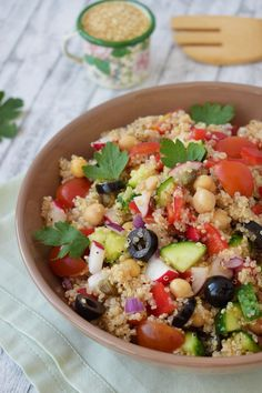 Tofu, Cobb Salad, Quinoa, Picnic, Salads, Picnics