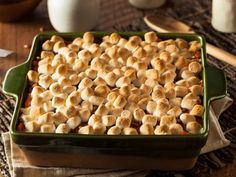 With a gooey marshmallow top and a soft, creamy sweet potato filling, this sweet potato casserole is sure to be the star at your next family gathering.