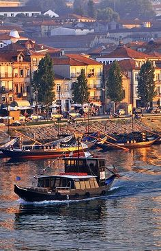 Traditional small boats - Gaia by the Douro River, Porto, Portugal Douro Portugal, Visit Portugal, Portugal Travel, Spain And Portugal, Beautiful Places In The World, Places Around The World, Places To See, Oh The Places You'll Go, Around The Worlds