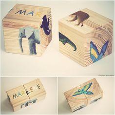 Verspieltes Holz-Spielzeug zum Nachgestalten