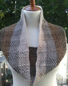 Cloud-soft Merino Alpaca Reversible Infinity Scarf/Cowl in Browns & Taupes…