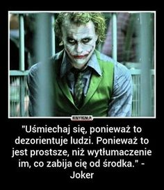 Znalezione obrazy dla zapytania joker heath ledger tapety Some Quotes, Daily Quotes, Words Quotes, Sayings, Motto, Joker Heath, Joker Joker, Sad Texts, Gewichtsverlust Motivation