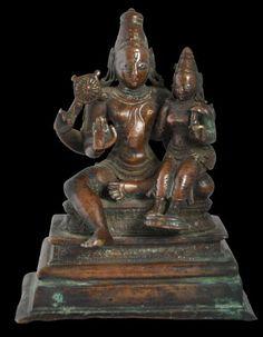 Lakshmi-Narayana Bronze, South India. 17th. century.