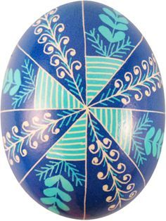 Pysanka with pine needle motif from Ukranian Gift Shop