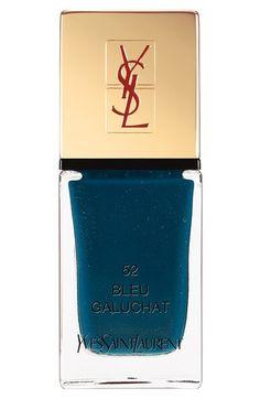 Yves Saint Laurent 'La Laque Couture' Nail Lacquer 52 Bleu Galuchat One Size by: Yves Saint Laurent Beauty @Nordstrom
