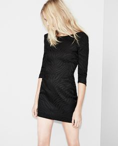 shiny tiger structured dress with bare back dresses women the kooples