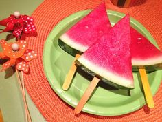 Watermelon Popsicles- Healthy Summer Snack and Popsicles for the kids- Yum | Photo and Post Credit ZiggityZoom.com