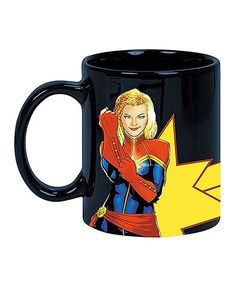 Captain Marvel Glitter Ceramic Mug