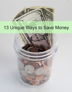 There are many ways you can save a bit of cash, while still living (and loving) life that may not be your ordinary way to save money! Check out this list of 13 Unique Ways to Save Money! money saving tips, frugal living, living on a budget