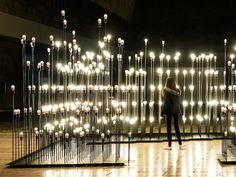 I think LEDs can give us a lot of cool lighting effects / freedom for creating separate & shared spaces...  Interactive Garden Made of 1,200 LED Lightbulbs - My Modern Metropolis