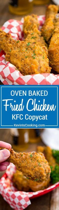 My Oven Fried Chicken is a KFC Copycat that is BAKED not fried, and has fantastic flavor that is spot on with crunch. Same flavor without all the grease! via @keviniscooking