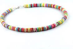 Holzketten - Kette Holzperlen bunt - ein Designerstück von Inezza-Geschenke bei DaWanda
