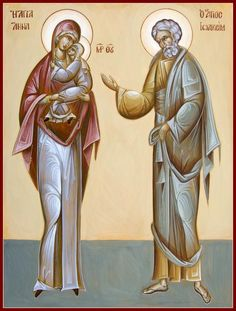 St. Joachim and St. Anna, earthly parents of Mother Mary and earthly grandparents of Jesus.